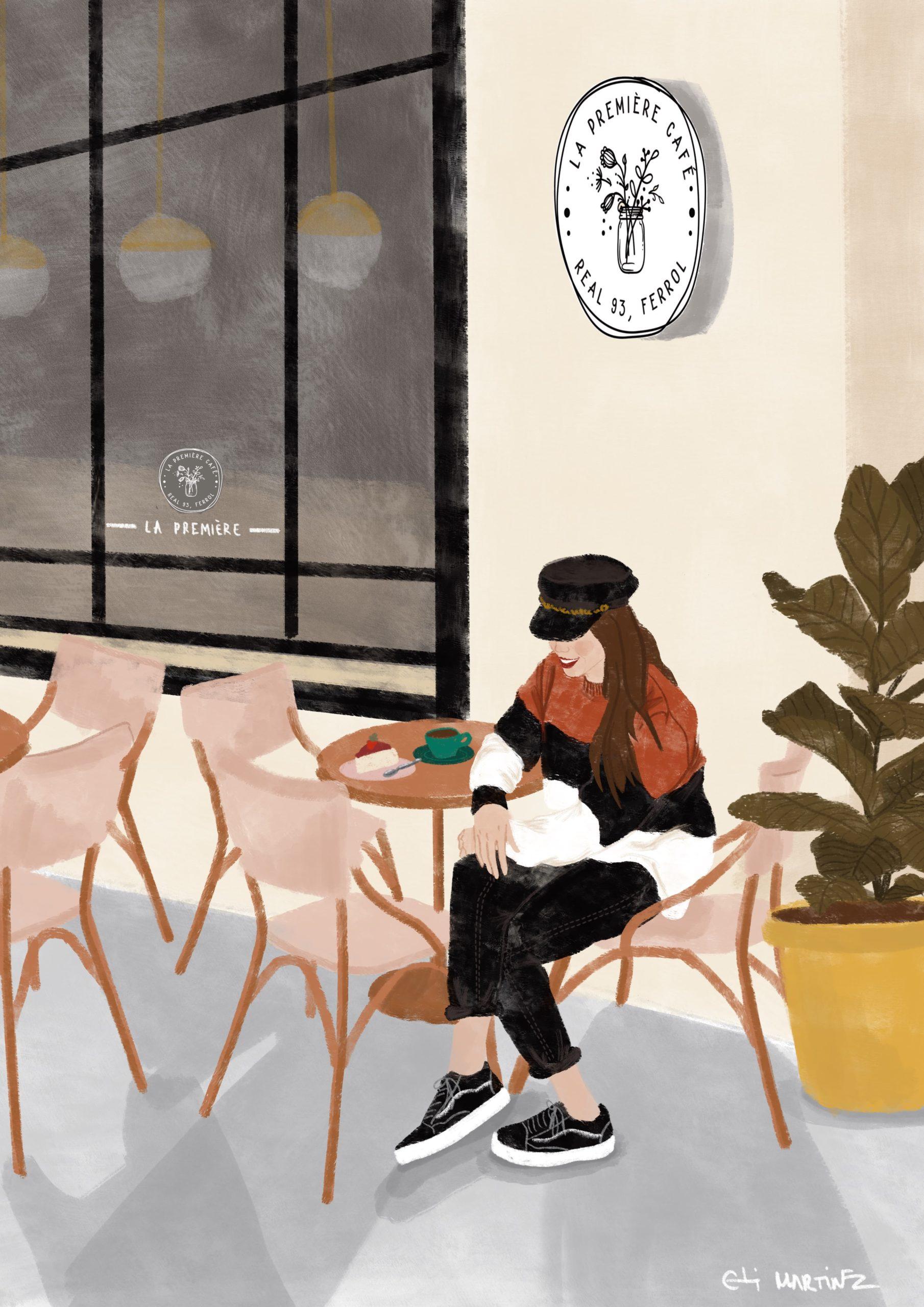 LA PREMIÉRE CAFÉ .                        Decoración cafetería